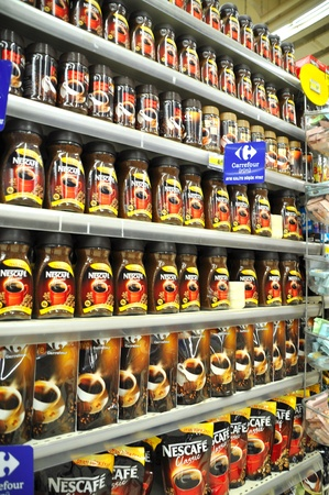 Istanbul Maltepe Carrefour has opened a new branch, coffee section Stock Photo - 12385550