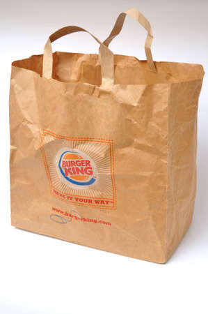 Burger King bolsa de papel con el logotipo de