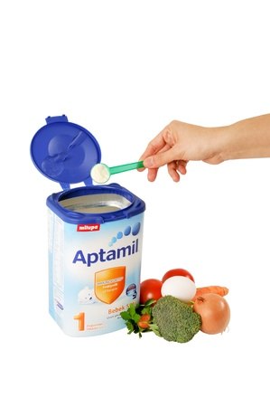 Milupa Aptamil, baby food is very nutritious