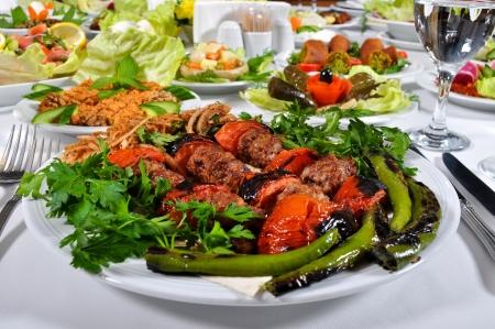 feast table: Fine meat is tasty dinner