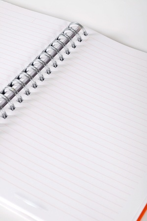 Blank spiral notebook ready for writing Stock Photo - 12901505
