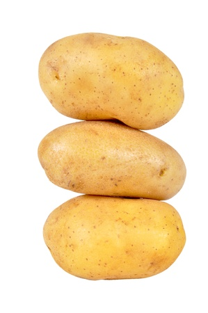 russet: Fresh Potato Isolated on White Background Stock Photo