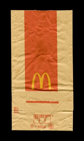McDonalds paper bag with logo
