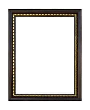 marcos decorados: Aislada de madera sobre fondo blanco Foto de archivo