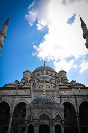 Minaret of the mosque and the sky Stock Photo - 13791581