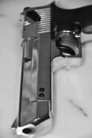 Detailed images of chrome pistol photo