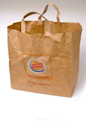 Burger King paper bag with logo