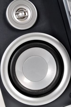Compact stereo system and powerful speakers photo