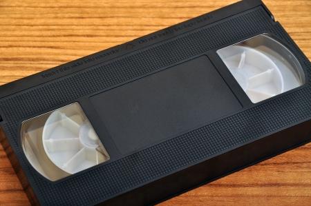Black old VHS video cassette