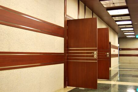daily room: Modern two office doors closed Stock Photo