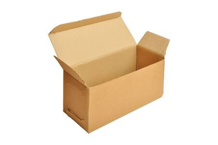 Open cardboard box isolated on a white background Stock Photo - 18654703