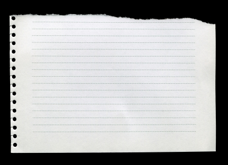 Straight line, clean white torn paper Stock Photo - 18654923