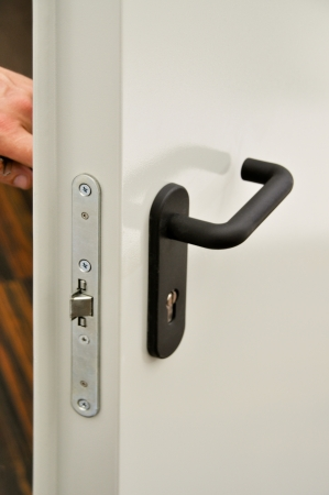 Details of the emergency exit door handle  photo