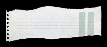 Straight line, clean white torn paper Stock Photo - 24421732