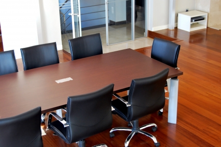 Conference halls and meeting table photo