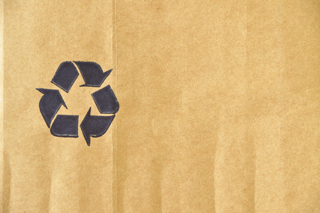 Cardboard and paper recycling sign photo
