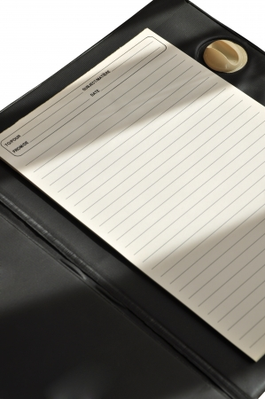 White paper to write notes, business notes photo