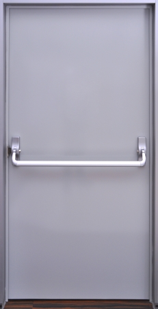 fire escape: The details of the emergency exit door handle