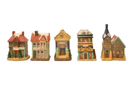 Model houses  Isolated on white  photo