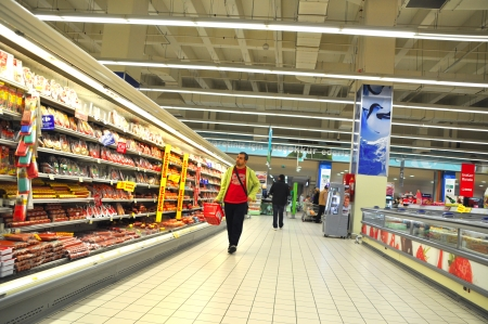 shop keeper: Istanbul Maltepe Carrefour has opened a new branch   Deli section