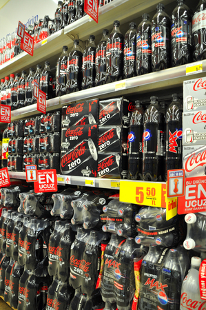 soft drinks: Istanbul Maltepe Carrefour has opened a new branch  Soft drinks section
