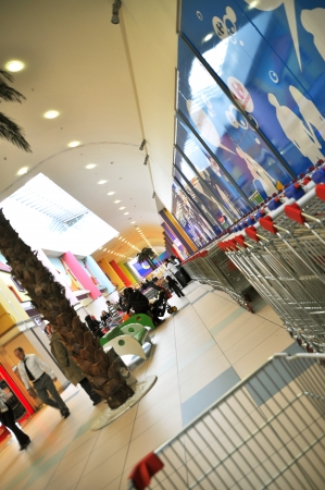 shoppingcarts: Istanbul Maltepe Carrefour has opened a new branch  Supermarket trolley Editorial
