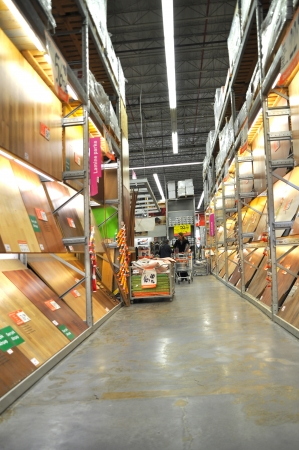 home improvement store: Home improvement store, parquet section