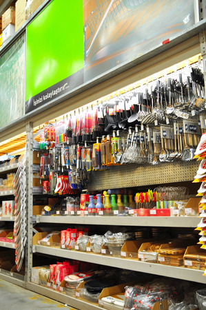 Home improvement store, kitchen supplies section