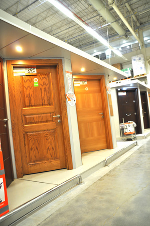 Home improvement store, door section