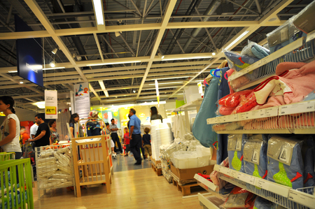 home improvement store: Ikea, home improvement store, people who shop Editorial