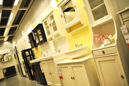 home improvement store: Ikea, home improvement store, bathroom section Editorial