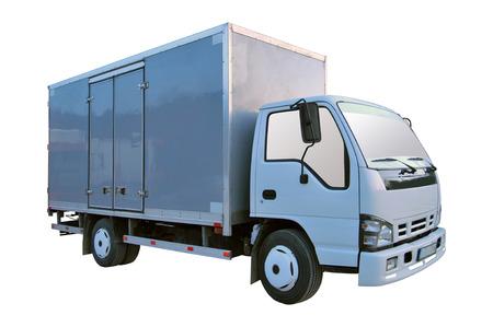 camioneta pick up: Camioneta blanca en blanco aislado en un fondo blanco