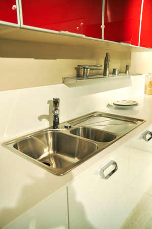sink hole: This is a modern and beautiful kitchen