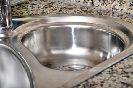 sink hole: Close-up of a sink in a modern kitchen