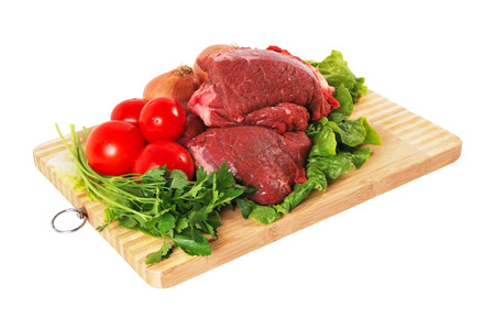 gril: Fresh, raw meat texture of the red Stock Photo