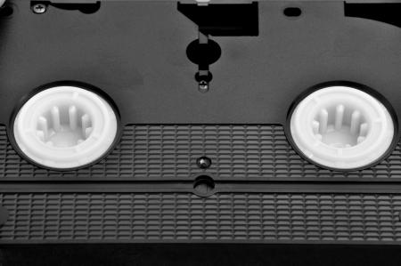 vhs videotape: Black old VHS video cassette
