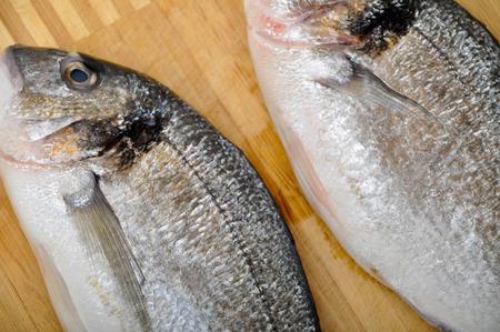 phosphorus: Ready to cook big fresh fish Stock Photo
