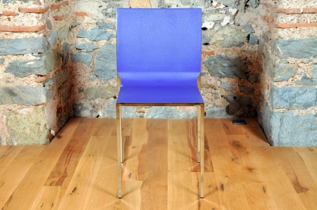 turning table: In a fantastic location on the office chair Stock Photo