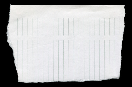 Straight line, clean white torn paper photo