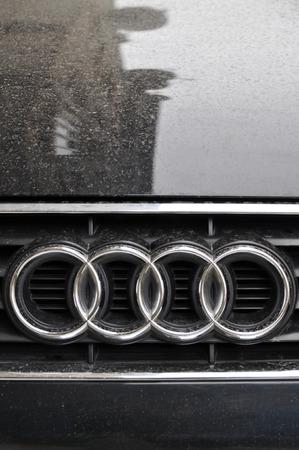 Audi auto logo chrome metal