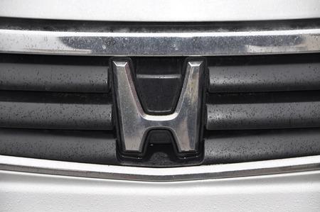 honda: Honda auto logo chrome metal Editorial