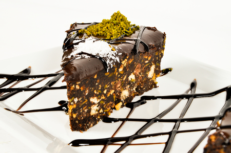 Good looking, delicious and beautiful chocolate slice cake Stok Fotoğraf