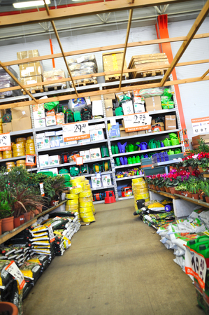 home improvement store: Home improvement store, garden section