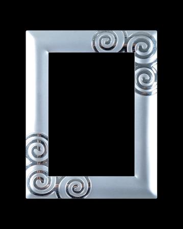 silver frame: Silver frame on a black background