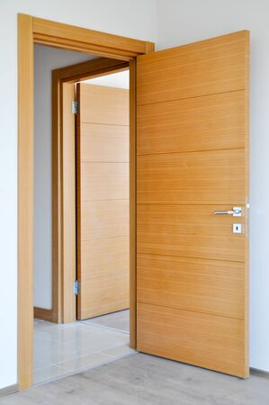 Modern two office doors closed Stock Photo
