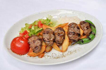 scrumptious: Fine meat is tasty dinner, Turkish grilled meatballs