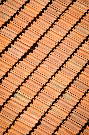 cladding tile: Tile on a roof. Texture or background Stock Photo