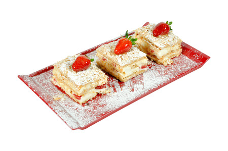 Good looking, delicious and beautiful strawberry cake