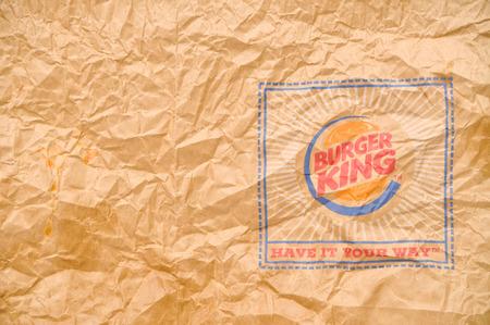 Burger King paper bag .