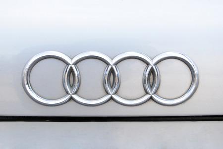chrome: Close-up Audi Chrome metal